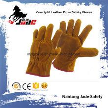 Cow Split Industrial Safety Drivers Luva de trabalho de couro