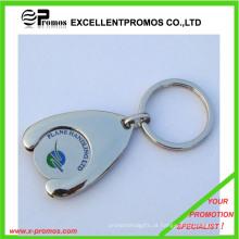 Carrinho de compras de supermercado moeda Keychain (EP-K7896)