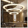 Fancy Three Round Crystal Lámpara colgante para Hotel Project