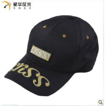 Sport cap with reflective logo