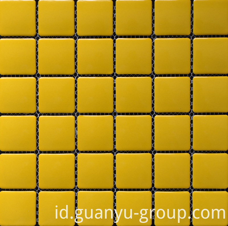 Pure Yellow Porcelain Mosaic Tile