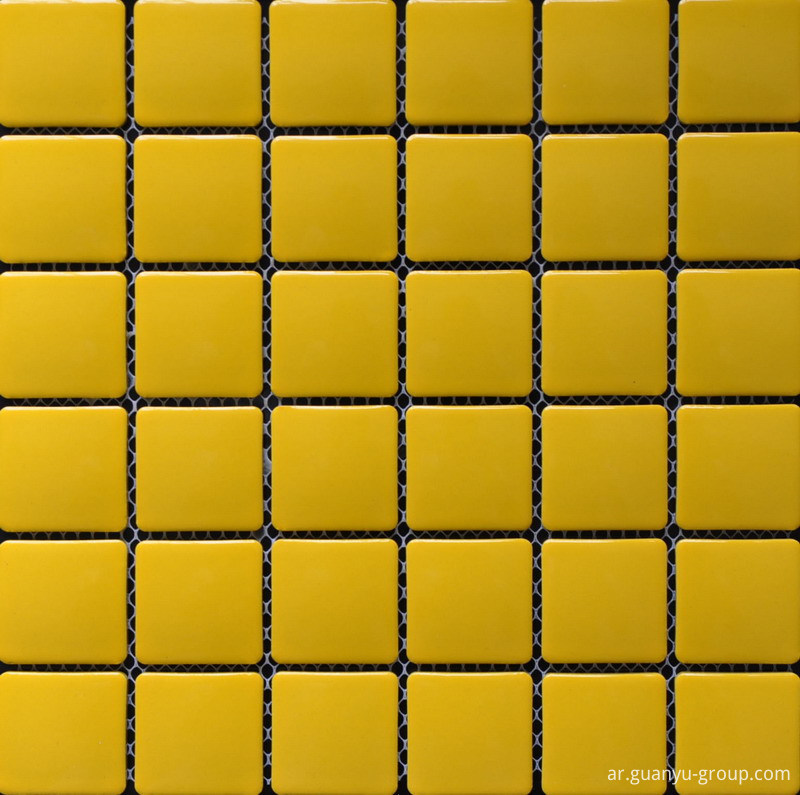 Fresh Yellow Square Chip Porcelain Mosaic