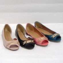 Frauen Ballerina mit Mode Nieten flache Schuhe, Frauen besetzte flache Schuhe Stil