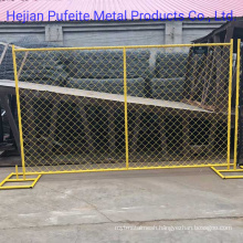 Yellow Color Chain Link Temp Fence.