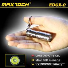 Maxtoch ED6X-2 Torch T6 Flashlight Mini Cree T6 Keyring