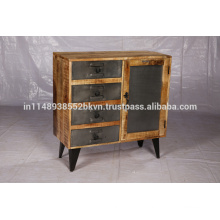 Cabinet with iron legs