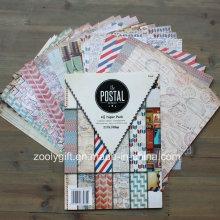 Libro de recuerdos de bricolaje Postales papel artesanal Scrapbooking Papel hecho a mano Scrapbook Pack A5