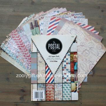 Brochure de bricolage Papier à motifs postaux Papier Scrapbooking Album à papier fait à la main A5