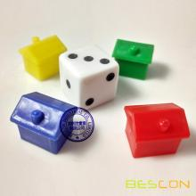 Colorful plastic small houses set, Game house, plastic house