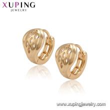 96525 xuping simples nouveaux modèles top vente modèle boucles d'oreilles avec plaqué or 18 carats