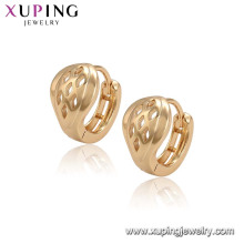 96525 xuping simple new designs top sale model earrings with 18k gold plated