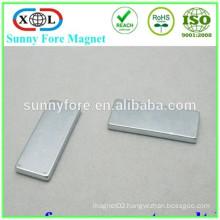 Zinc N42 rectangular neodymium magnet