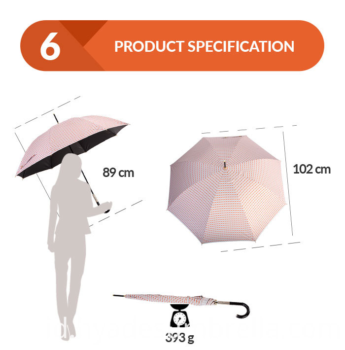 Wind Resistant Lightweight Auto Open Stick Umbrella