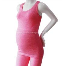 Schwangere Frauen tragen ärmelloses Sexy Mutterschafts Top