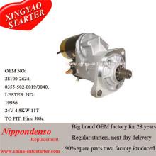 Início automático do carro 4.5kw 24V Hino Starter 28100-2624, 03555020019