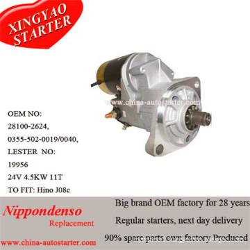Automatic Car Starter 4.5kw 24V Hino Starter 28100-2624, 03555020019