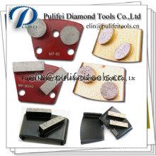 Assoalho das ferramentas do concreto que moem o disco de moedura do assoalho abrasivo do diamante do metal
