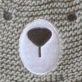 Children Baby Kids Knitted Bear Printing Embroidery Gloves Mitten Warm Beanie Hat (HW634S)