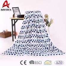 mayorista de fabricación de China manta de micromink de punto impreso grueso con sherpa