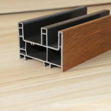 PVC-Schiebetürprofile mit laminierter Holzfarbe