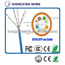 Câble UTP CAT5e de câble de LAN Lan CAT5e d'approvisionnement d'usine pour Gigabit Ethernet