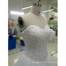 Aoliweiya Brand New Bridal Wedding Dress with Beading Bodice