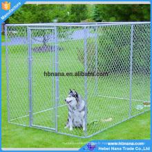 Professionnel personnalisé galvanisé chenil pas cher chaîne chenil / grande clôture de chien