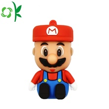 Super Mario Rubber USB Case Silicone Cover Keychain