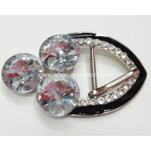 Clear Glass Rhinestone Pin Buckles
