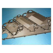 Sondex, GEA, Vicarb y así sucesivamente placa de intercambiador de calor de marca y empaque, ss304, 316, placa de titanio