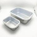 caixas quadradas herméticas do armazenamento do alimento da vasilha de aço inoxidável do metal do produto comestível