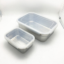 food grade metal stainless steel square airtight canister food storage bins
