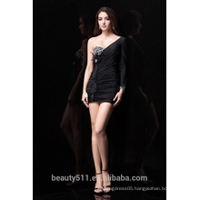 New Style Custom Made Elegant A-line Sweetheart black chiffon with beading formal Short evening dress prom dresses ED76