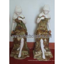 Escultura de piedra tallada de la piedra del jade para la decoración casera de interior (SY-C1229)