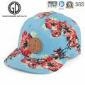 2016 belle fleur ciel bleu Hip-Hot Snapback Cap avec Logo