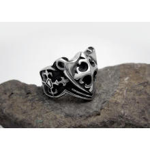 Kreuz Ringe Titan Stahl Silber Farbe & Modeschmuck