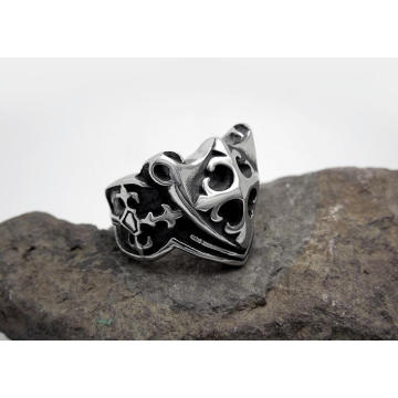 Cross Rings Titanium Steel Silver Color & Fashion Jewellery