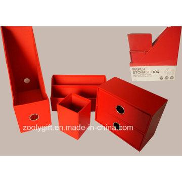 Caja de organizador de almacenamiento multifuncional de papel 4in1