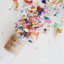 Eco-содружественный украшение свадьбы конфетти Поппер горячая Продажа Canfetti пушки одноразовые