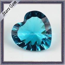 Heart Shape Millennium Cut Glass for Jewelry