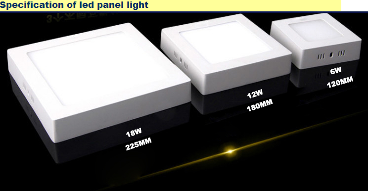 surface mounted led square panel lights