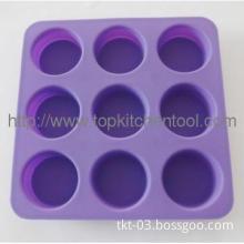 Color circle shape ice cube tray
