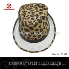 fedora hat pattern leopard print hat for wholesale