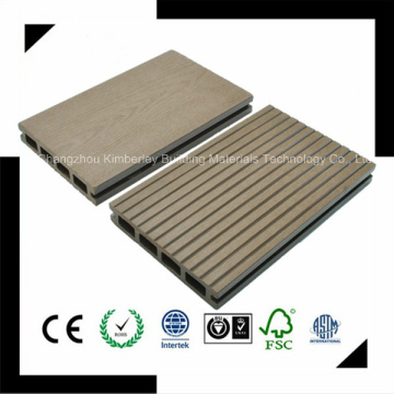 Made in China Venda directa da fábrica impermeável Reciclagem de plástico de madeira WPC Composto piso exterior 125 * 23