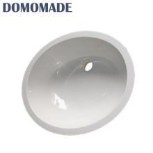 Matt white / glossy white acrylic chemical resistant commercial bathroom single bowl wash basin