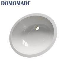 New undercounter oval ao ar livre em forma de mão pequena pias lavatório
