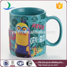 Cute Minions 3D Ceramic Coffee Cup Copos de Chá 320ml sem tampa