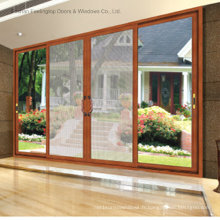 Portes coulissantes en aluminium à 4 panneaux avec double vitrage (FT-D120)