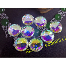 25mm cristal rond coudre sur des pierres pour bijoux accessoires
