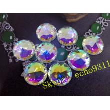 O cristal redondo de 25mm costura em pedras para acessórios da jóia